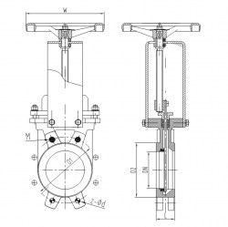50MM PN 10 HANDWHEEL UNI DIRECTION KNIFE GATE VALVE