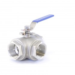 Right Hand Ball Valve 3-Way T size 50mm