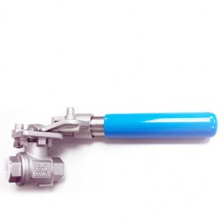 SERIE AF-23 2-PC BALL VALVE WITH SPRING RETURN LOCKING HANDLE 20MM BSP 1000 PSI FLOATING BALL VALVE