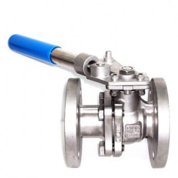 SERIE AF-53 2-PC BALL VALVE WITH SPRING RETURN LOCKING HANDLE 20MM FLANGED RF PN 16 FLOATING BALL VALVE
