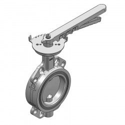 SERIE 2230 100MM WAFER PN 16 CONCENTRIC BUTTERFLY VALVE