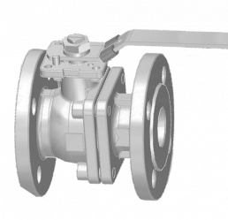 40MM FLANGED RF PN 16 FLOATING BALL VALVE
