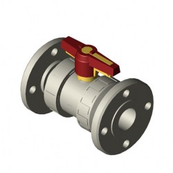 SERIE S4 2-WAY 50MM FLANGED RF PN 10 FLOATING BALL VALVE
