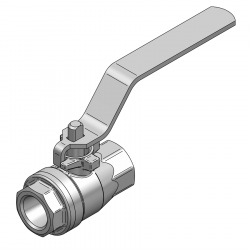 MARS 8MM BSP PN 70 FLOATING BALL VALVE (COMES WITH LOCKING DEVICE)