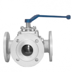 MARS SERIE 30-30 PN16 L FLANGED RF 3-WAY L BALL VALVE