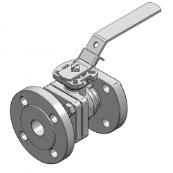 MARS SERIE 90D F4 25MM FLANGED RF PN 40 FLOATING BALL VALVE