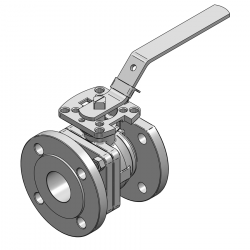 MARS SERIE 90D-60 F4 50MM FLANGED RF PN 40 FLOATING BALL VALVE