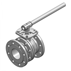 MARS SERIE 90D-40 F4 80MM FLANGED RF PN 16 FLOATING BALL VALVE