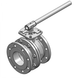 MARS SERIE 90D-40 F4 100MM FLANGED RF PN 16 FLOATING BALL VALVE