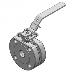 MARS SERIE 99-1F 20MM WAFER PN 16 V-PORT BALL VALVE