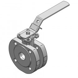 MARS SERIE 99-1F 25MM WAFER PN 16 V-PORT BALL VALVE