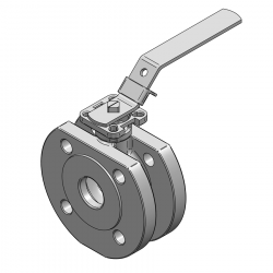 MARS SERIE 99-1F 32MM WAFER PN 16 V-PORT BALL VALVE