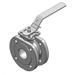 MARS SERIE 99-1F 50MM WAFER PN 16 V-PORT BALL VALVE