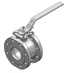 MARS SERIE 99-1F 80MM WAFER PN 16 V-PORT BALL VALVE