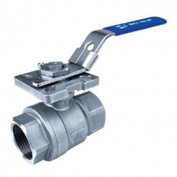 15MM BSP 1000 PSI FULL BORE BALL VALVE WITH MOUNTING PAD (COMES WITHOUT LEVER)-TORQUE 5NM