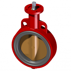 40MM WAFER PN 16 CONCENTRIC BUTTERFLY VALVE
