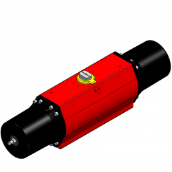ROTORK REMOTE CONTROL SERIE RCO 280 SR O=OVERTRAVEL IN CLOSED POSITION +-- 3% RCO 280 SR PNEUMATIC ACTUATOR