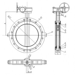400-600 MM LUG PN 10 CONCENTRIC BUTTERFLY VALVE GA