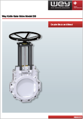 Wey Knife Gate Valve Model DB